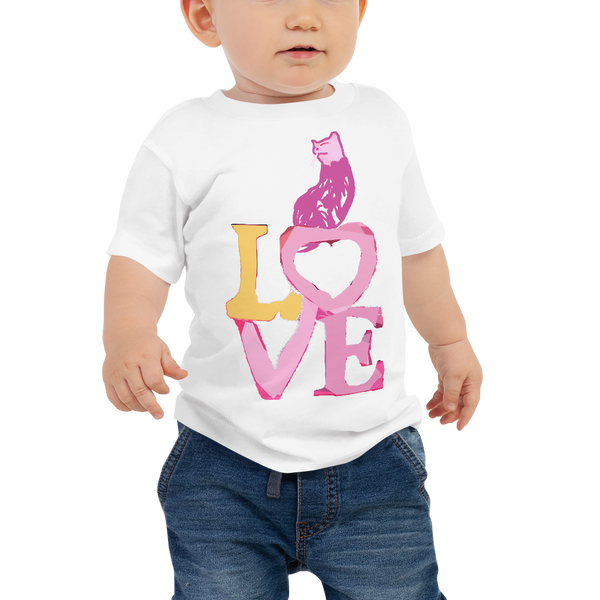 Baby Jersey Short Sleeve Tee Love Kitty