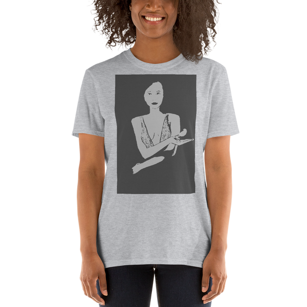 Short-Sleeve Unisex T-Shirt Lady M & Her Lucky Bird