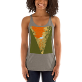 Women's Racerback Tank Sunset Pond Swan Reflection