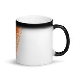 Matte Black Magic Mug Sunset Pond Swan Reflection