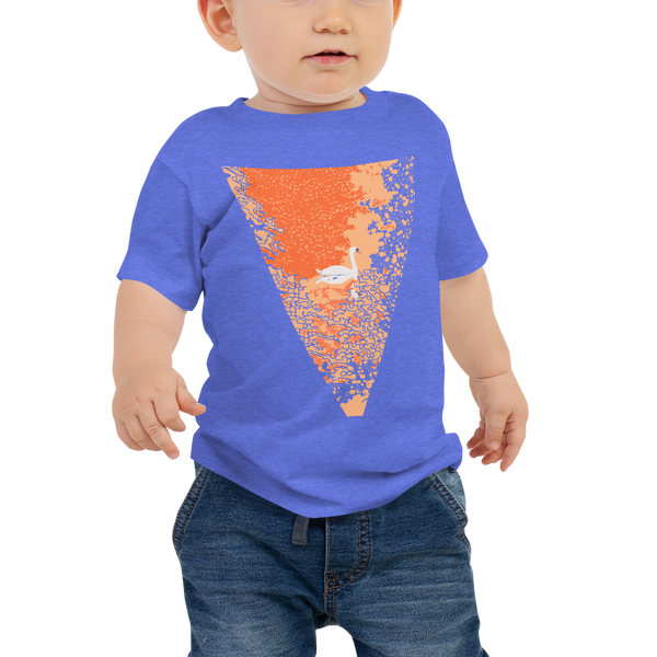 Baby Jersey Short Sleeve Tee Sunset Pond Swan Reflection