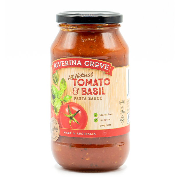 Riverina Grove Tomato & Basil Pasta Sauce 500ml
