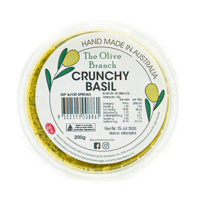 The OB Crunchy Basil Dip 250g