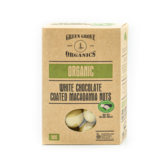 White Chocolate Coated Macadamias 180g