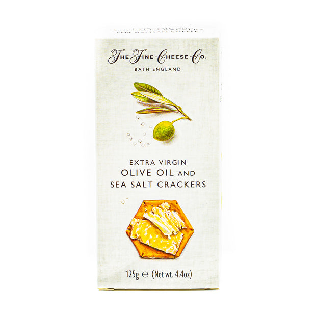 The Fine Cheese Co EVOO & Seasalt Crackers 125g