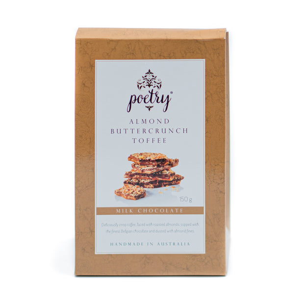 Poetry Almond Buttercrunch Toffee Milk Choc 150g