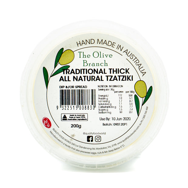 The OB Traditional Thick Nat Tzatziki 200g