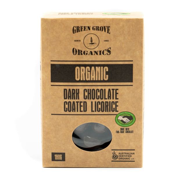 Dark Chocolate Coated Licorice 180g