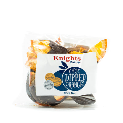Knights Chocolate Dipped Dried Oranges 100g