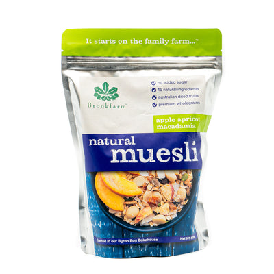Brookfarm Apple Apricot Macadamia Natural Muesli 500g