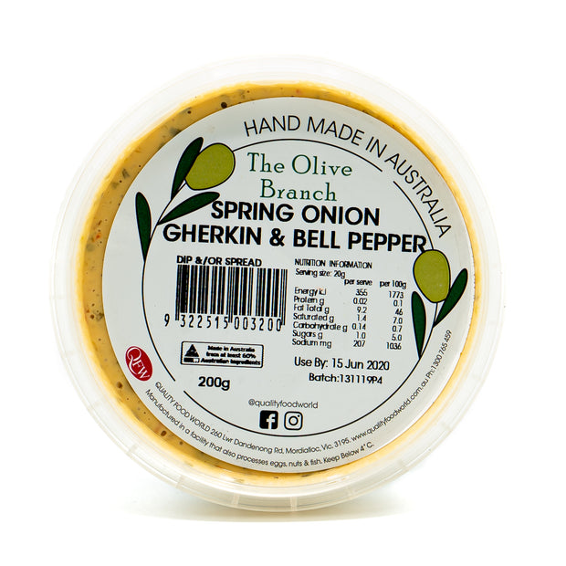The OB Spring Onion Gherkin & Bell Pep. 200g