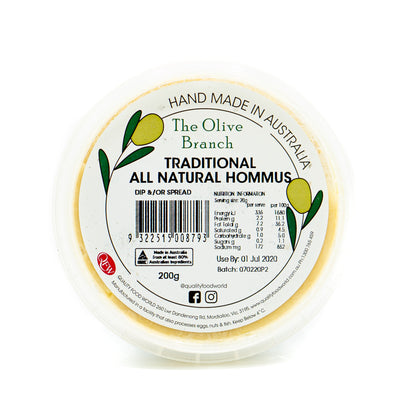 The OB Traditional All Natural Hommus 200g