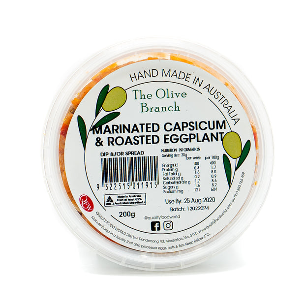 The OB Marinated Capsicum & Roasted Eggplant 200g