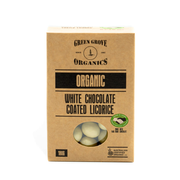 White Gold - White Chocolate Coated Licorice 180g