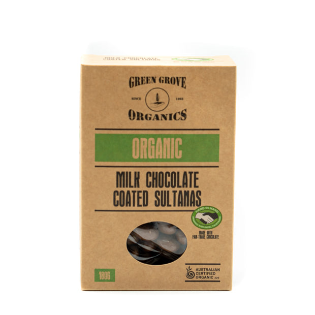 Chocolate Coated Sultanas 180g