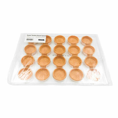 Sweet Round Tart Shells 55mm (20 pack)