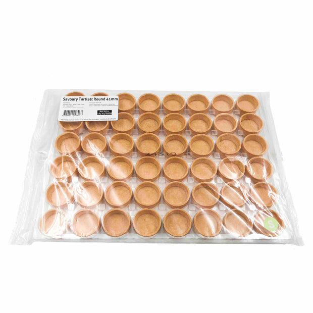 Savoury Round Tart Shells 41mm (48 pack)