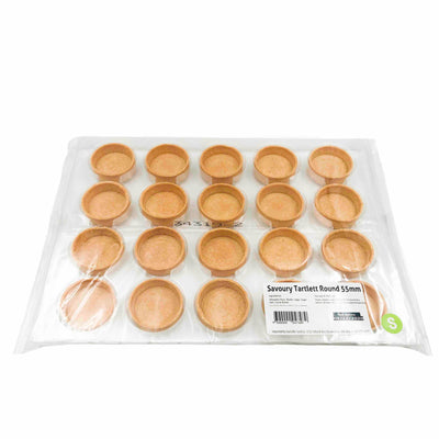 Savoury Round Tart Shells 55mm (20 pack)