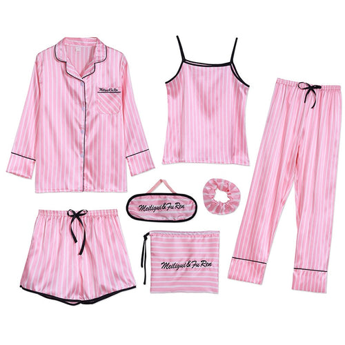 Women Autumn Winter Sexy Pajamas Sets Sleep Suits Soft Sweet Cute Nightwear Gift Home Clothes