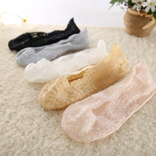 5 Pairs Fashion Women Girls Summer Thin Socks Non-slip