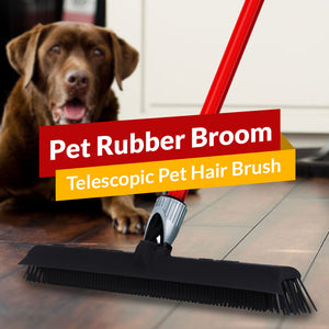 Pet Rubber Broom - Telescopic Pet Hair Brush
