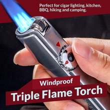 Load image into Gallery viewer, Windproof Triple Flame Torch