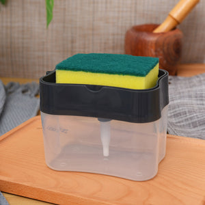 2-in-1 Soap Dispenser Pump & Sponge Holder