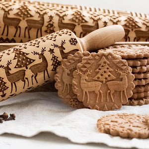 Christmas Rolling Pin (50% Pre-Holiday Sale)