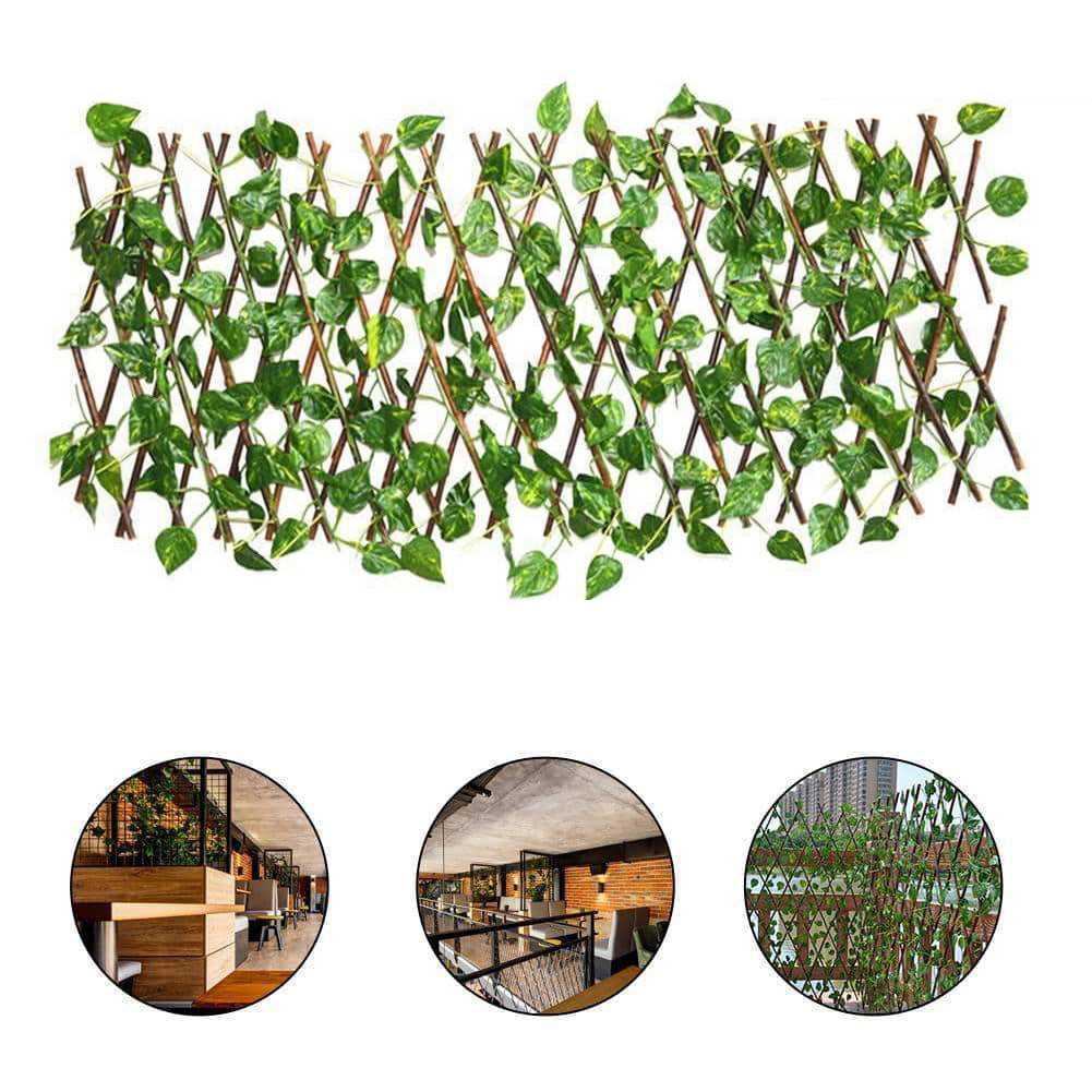 Expandable Faux Ivy Privacy Fence
