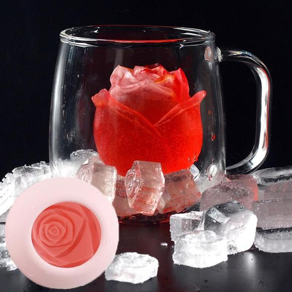 3D Rose Ice Cube Mold