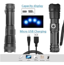 Load image into Gallery viewer, The World's Strongest Tactical Zoom Flashlight