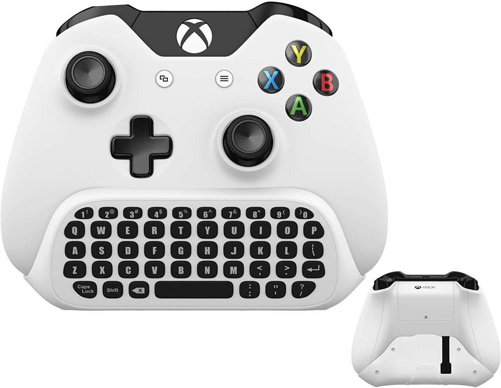 Wireless Keyboard ChatPad for Xbox One/S White with USB Receiver with Audio/Headset Jack - Gamers Digital