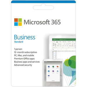 Microsoft 365 Business Standard 1 Year Subscription Medialess Software