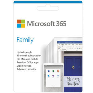 Microsoft 365 Home 6 Device 1 Year Subscription Software