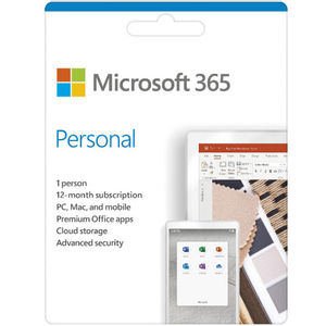 Microsoft 365 Personal 1 Year Subscription Medialess Software