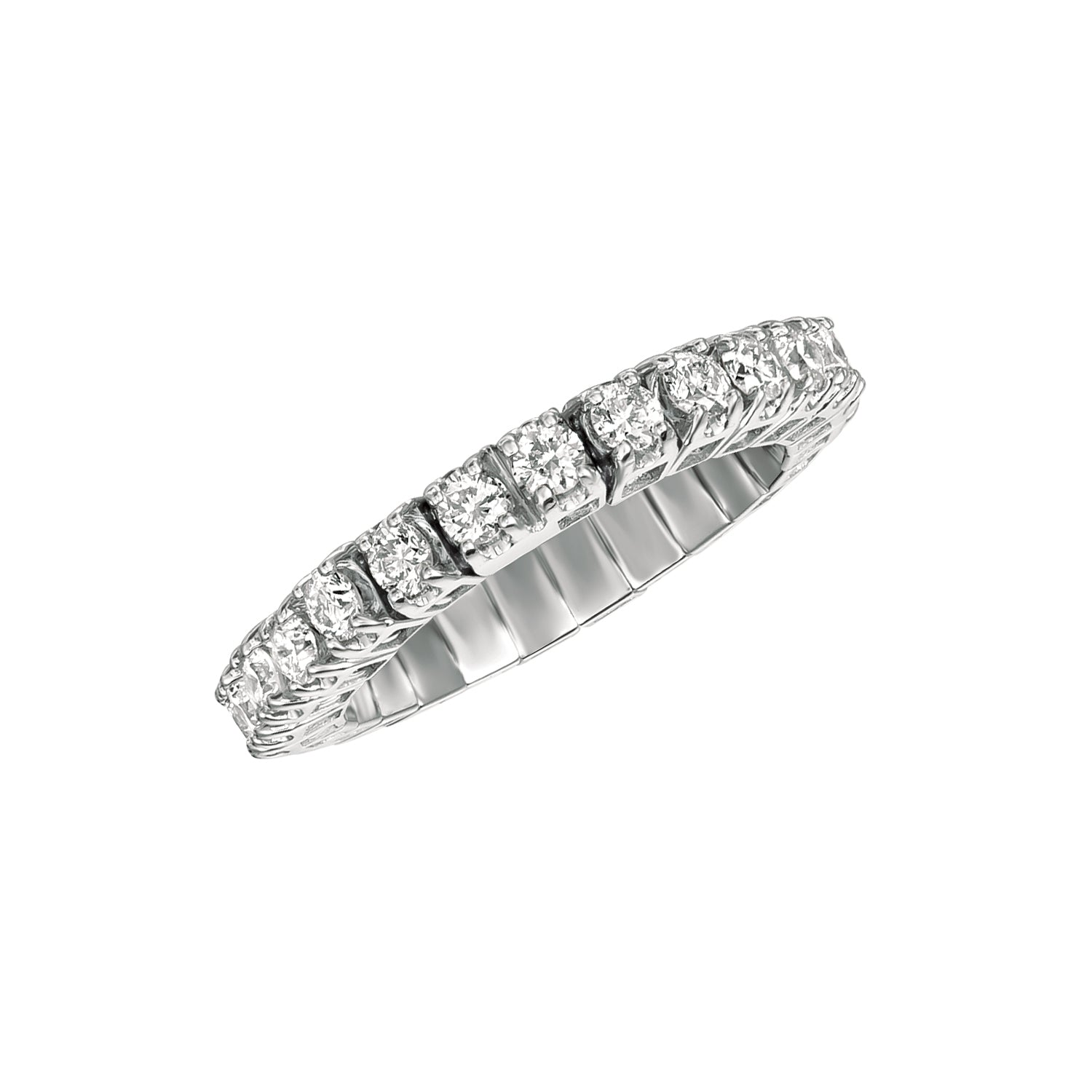 1.0ct White Gold Diamond Stretch Eternity Band