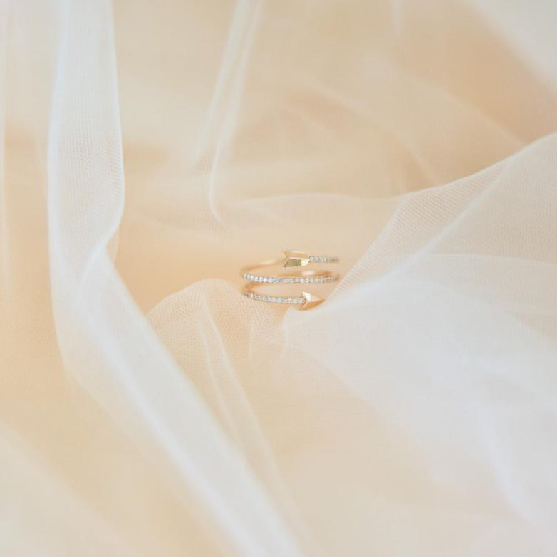 Hunter Diamond Arrow Ring | Rose Gold