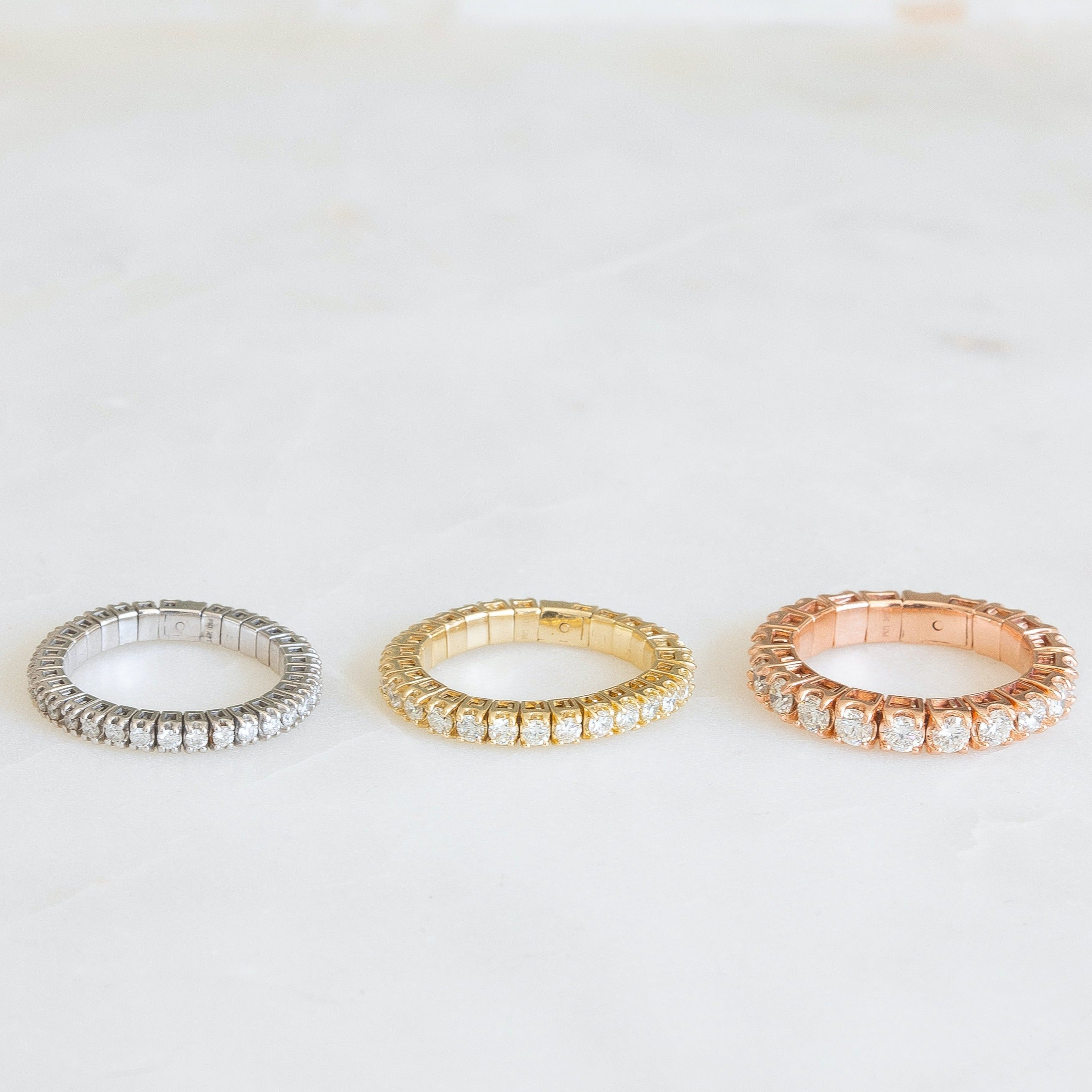 Stretch Eternity Band | White Gold