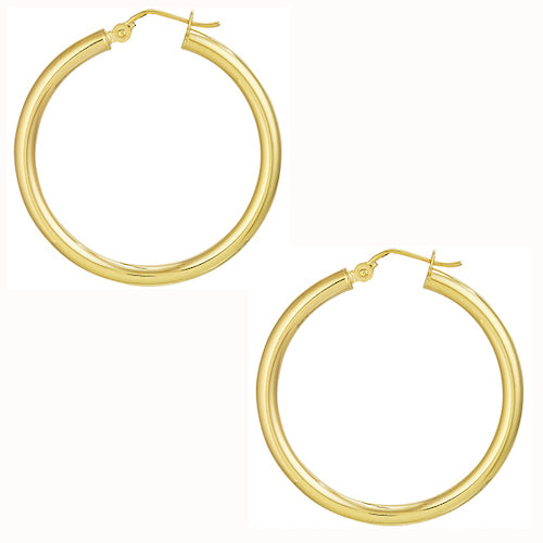 Richmond Eternity Hoops | Yellow Gold