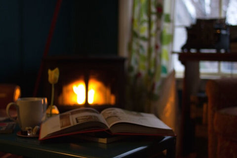 books and hygge