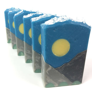 Mountain Vibes Artisan Soap Lineup Tops