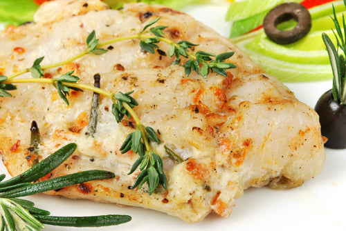 Garlic-Butter Baked Halibut