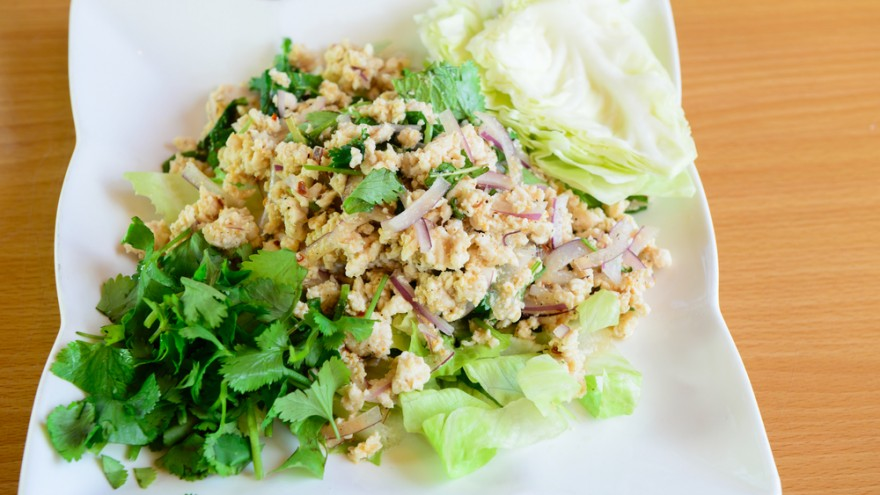 Lap Gai: savory Thai chicken salad