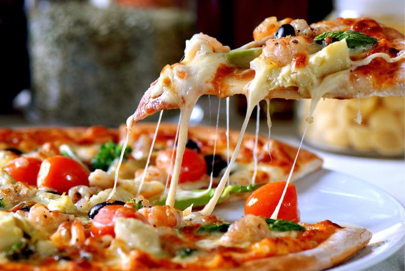 Pizza slice rich with lycopene for prostate health