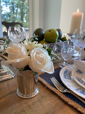 5 Ways To Use Your Silver Mint Julep Cups - Use as a vase for flowers - Templeton Silver