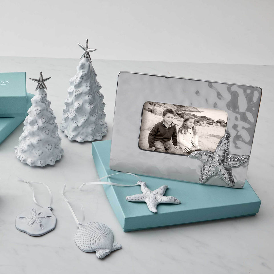 Silver Christmas and Holiday Ornaments and silver picture frames