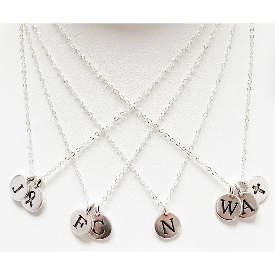 silver charm necklaces