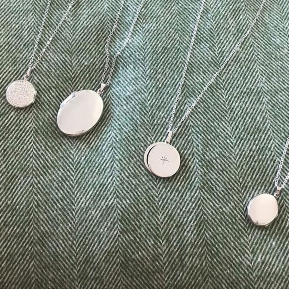 sterling silver locket necklaces