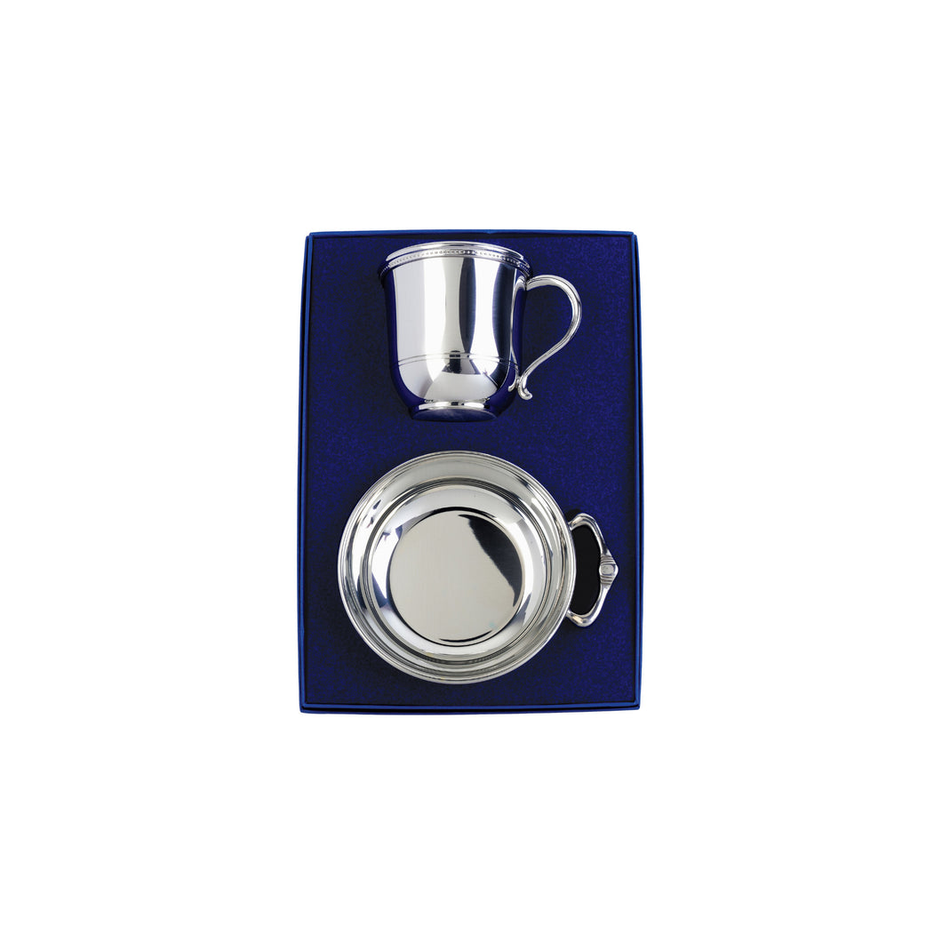 Silver Baby Cup and Porringer Gift Set