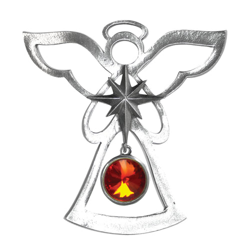 Silver Angel Ornament - July Birthstone